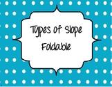 Slope Types Foldable