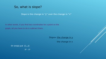 Slope Using Rise/Run and 2 Coordinates