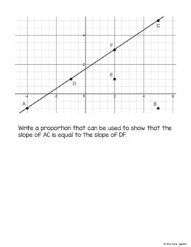 Slope Using Similar Triangles Notes by The mrs garen   TpT