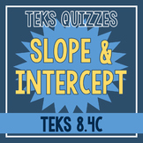 Slope and Intercept Quiz (TEKS 8.4C)