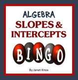 Algebra Bingo:  Slopes and Intercepts, Linear Equations