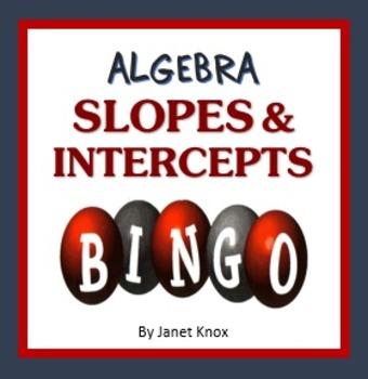 Algebra Bingo:  Slopes and Intercepts, Linear Equations