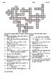 Slope and Intercepts Crossword Puzzle