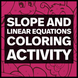 8.EE.B.6 Slope and Linear Equations Coloring Activity