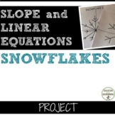 Slope and Linear Equations Project Snowflakes