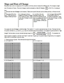 Slope and Rate of Change with Answer Key 2012 (Editable)