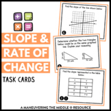 Slope and Rate of Change Task Cards