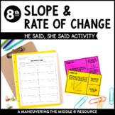 Slope and Rate of Change: He Said, She Said