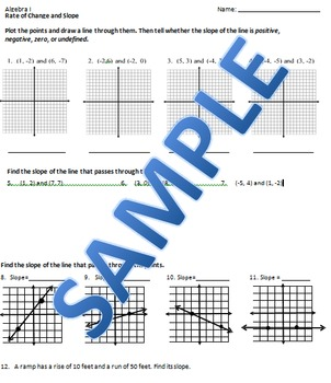 Slope and Rate of Change BUNDLE