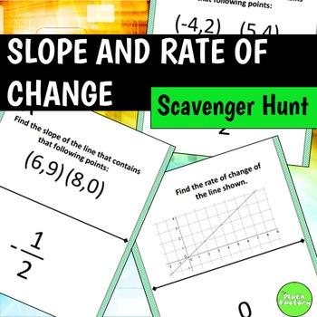 Slope and Rate of Change Scavenger Hunt