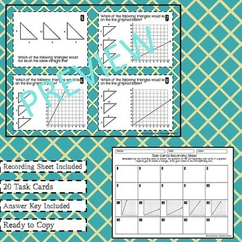 Slope and Similar Triangles Task Cards
