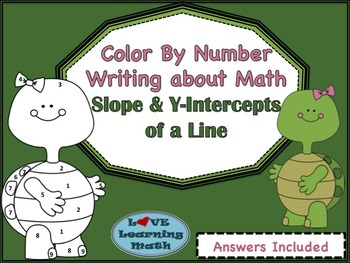 Slope and Y-Intercept Color By Number and Writing