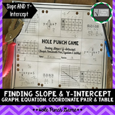 Slope and Y-Intercept (Mixed) Hole Punch Game