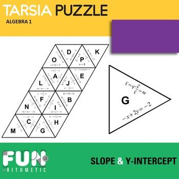 Slope and Y-Intercept Tarsia Puzzle