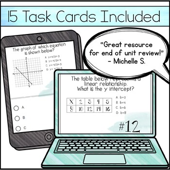 Slope and Y Intercept Task Cards
