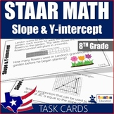 Slope and Y-Intercept Task Cards 8th Grade
