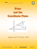 Slope and the Coordinate Plane - 8.EE.6