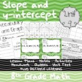 Slope and y-intercept - (8th Grade Math TEKS 8.4A & 8.4C)