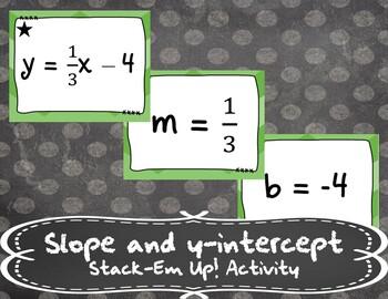Slope and y-intercept - Stack-Em Up! Activity