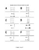 Slope and y-intercept from Tables and Graphs - Domino Activity