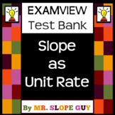 Slope as Unit Rate ExamView Bank BNK Graphing 8th Go Math 8.EE.B.6