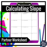 Slope between Two Points Partner Worksheet