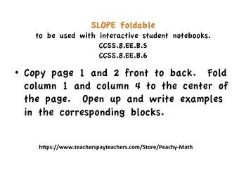 Slope foldable