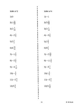 Slope from Equations: Sum of 3 (or 4) Activity