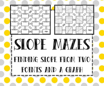 Slope from Points & Graph MAZES