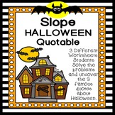 Slope from Two Points Halloween Quotable