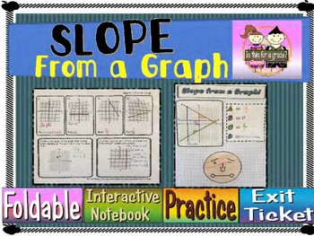 Slope from a Graph Foldable, INB, Practice, & Exit Ticket