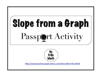 Slope from a Graph Passport Activity