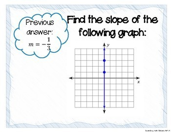 Slope from a Graph Scavenger Hunt