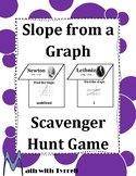 Slope from a Graph Scavenger Hunt Game