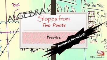 Linear Functions - Finding the Slope from Two Points