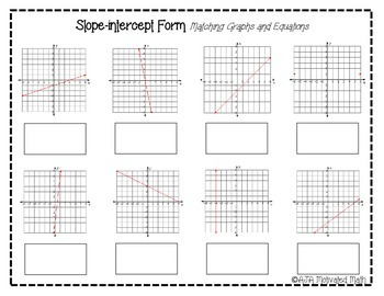 Slope-intercept Form Equations and Graphs (Cut-out matching)