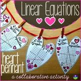 Valentine's Day Algebra Linear Equations Hearts Math Pennant