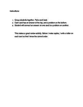 Slope intercept form - Domino activity review