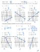 Slope intercept form worksheet homework practice quiz test y=mx+b mx+b