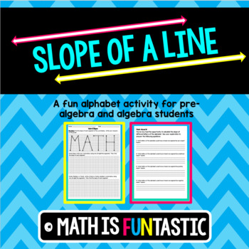 Slope of a Line - Alphabet Fun