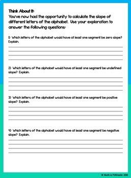 Slope of a Line - Alphabet Fun