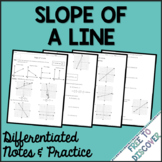 Slope Notes and Practice (Differentiated) | Distance Learning