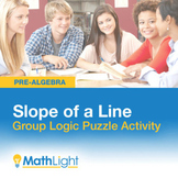 Slope of a Line Group Activity- Logic Puzzle | Good for Di