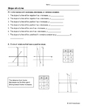 Slope of a Line Worksheet with Video Answers