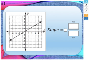 Slope of a line  – Boom Cards – Works with GOOGLE CLASSROOM