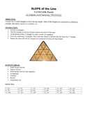 Slope of the Line Game Puzzle with Worksheet