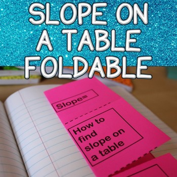 Slope on a Table Foldable