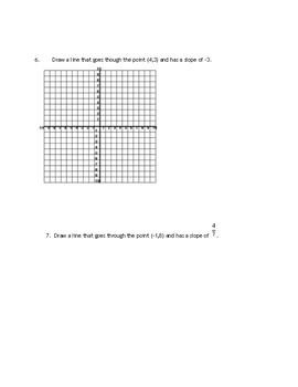 Slope quiz- 2 parts