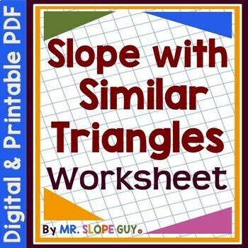 slope  similar triangles  worksheet eeb  math tpt