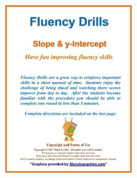 Fluency Drill Slope, Y-Intercept 8ee5